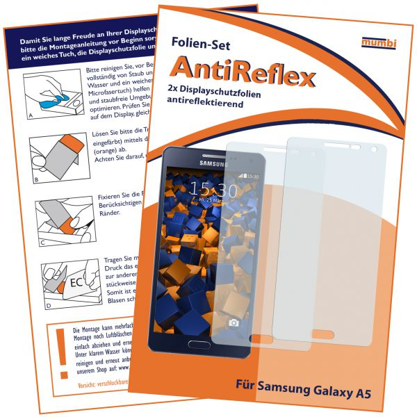 Displayschutzfolie 2 Stck. AntiReflex für Samsung Galaxy A5 (2015)