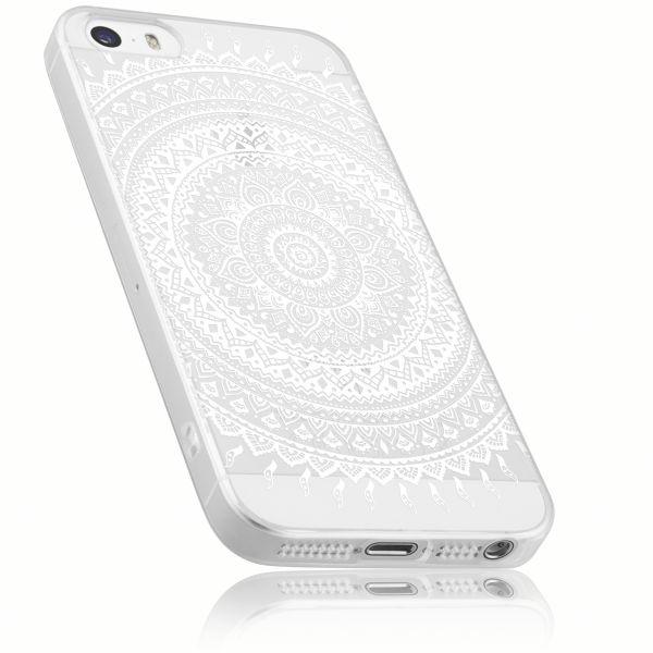 TPU Hülle transparent Motiv Mandala für Apple iPhone SE / 5 / 5s