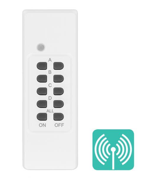 Zusatz Fernbedienung (4-Kanal) für Outdoor Funksteckdosen der Serie AFS202 weiß