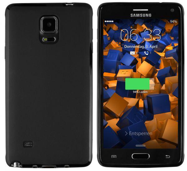 TPU Hülle schwarz für Samsung Galaxy Note 4