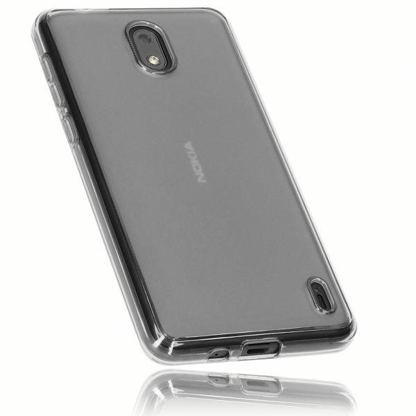 TPU Hülle schwarz transparent für Nokia 2