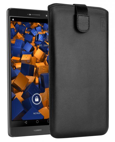 Leder Etui Tasche mit Ausziehlasche schwarz für Huawei P8 MAX