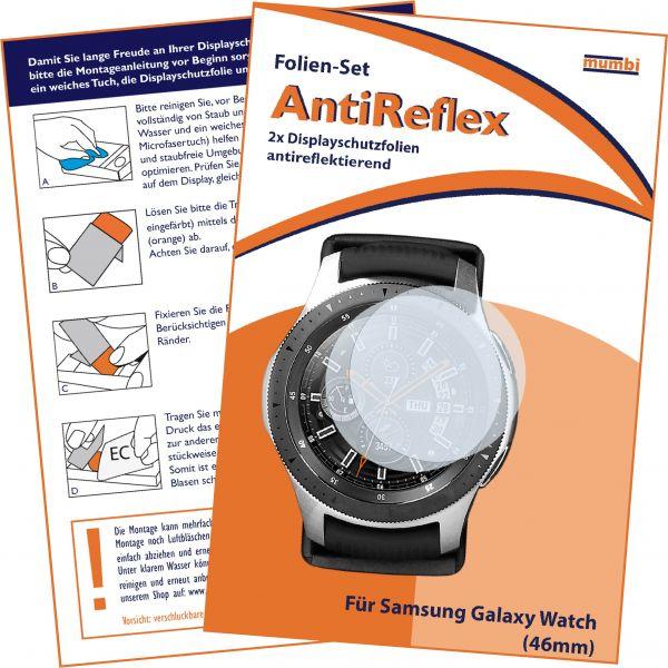 Displayschutzfolie 2 Stck. AntiReflex für Samsung Galaxy Watch (46mm)