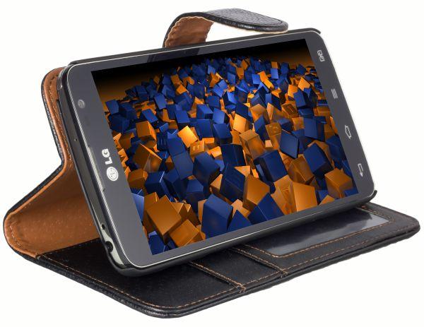 Bookstyle Tasche schwarz für LG G Pro Lite Dual