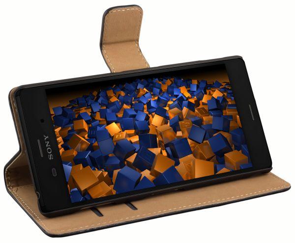 Bookstyle Tasche schwarz für Sony Xperia Z3