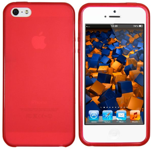 TPU Hülle rot transparent für Apple iPhone SE / 5 / 5s