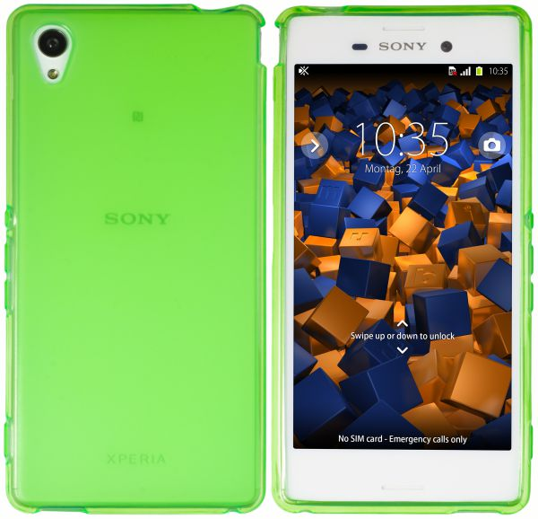TPU Hülle grün transparent für Sony Xperia M4 Aqua