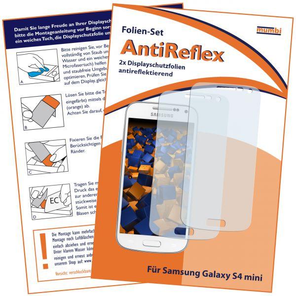 Displayschutzfolie 2 Stck. AntiReflex für Samsung Galaxy S4 Mini