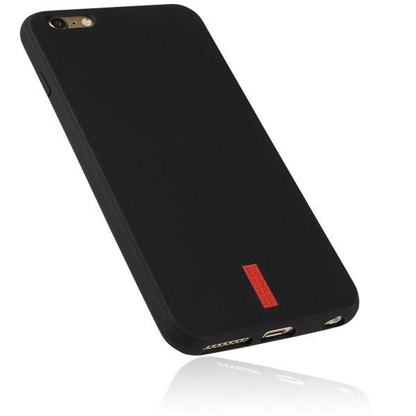 TPU Hülle schwarz mit Logo für Apple iPhone 6 Plus / 6s Plus