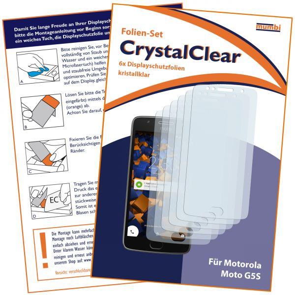 Displayschutzfolie 6 Stck. CrystalClear für Motorola Moto G5S
