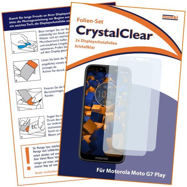 Displayschutzfolie 2 Stck. CrystalClear für Motorola Moto G7 Play