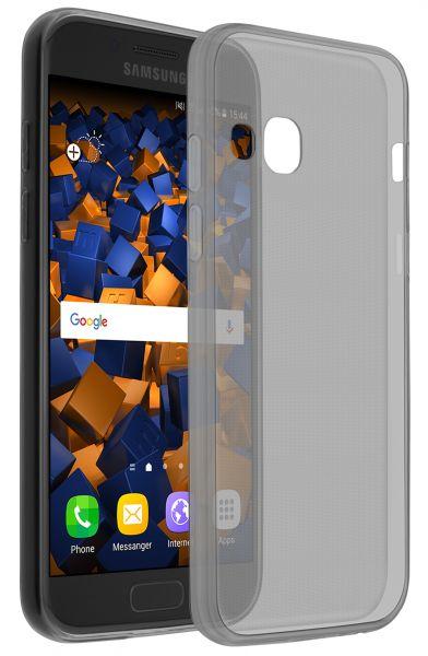 TPU Hülle Ultra Slim schwarz transparent für Samsung Galaxy A3 (2017)