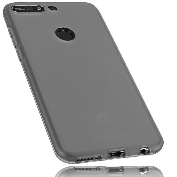 TPU Hülle schwarz transparent für Huawei Y7 (2018)