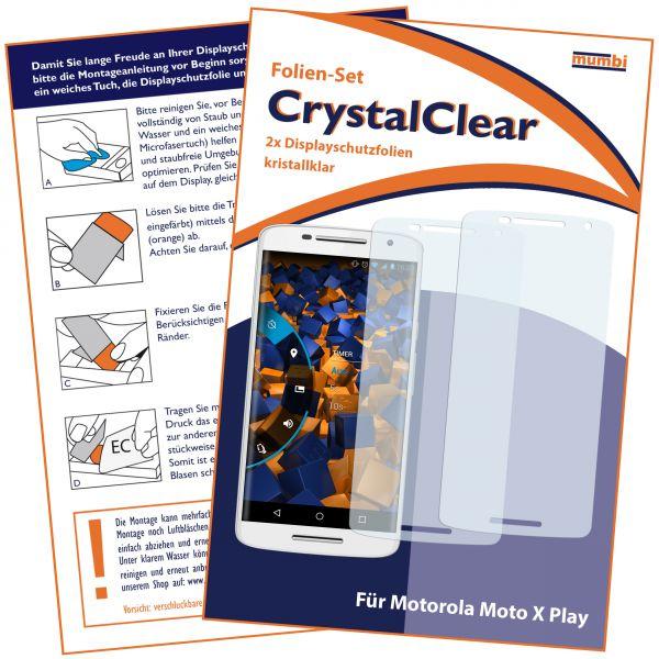 Displayschutzfolie 2 Stck. CrystalClear für Motorola Moto X Play