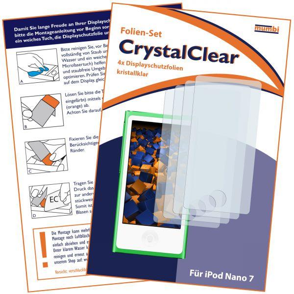 Displayschutzfolie 4 Stck. CrystalClear für iPod Nano 7G