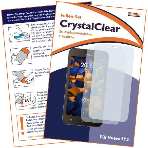 Displayschutzfolie 2 Stck. CrystalClear für Huawei Y5