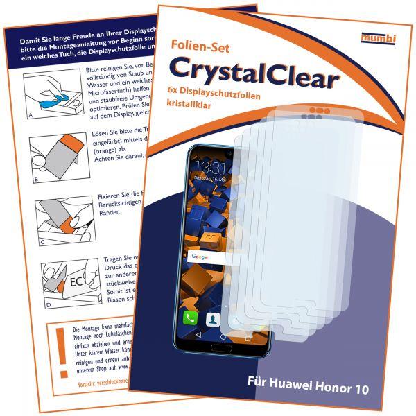 Displayschutzfolie 6 Stck. CrystalClear für Huawei Honor 10