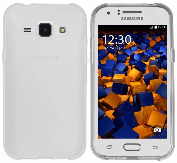TPU Hülle transparent weiß für Samsung Galaxy J1 (2015)