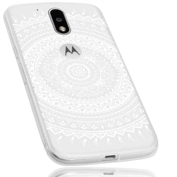 TPU Hülle transparent Motiv Mandala für Motorola Moto G4 / Moto G4 Plus