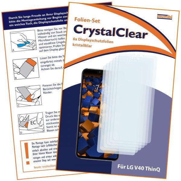 Displayschutzfolie 6 Stck. CrystalClear für LG V40 ThinQ