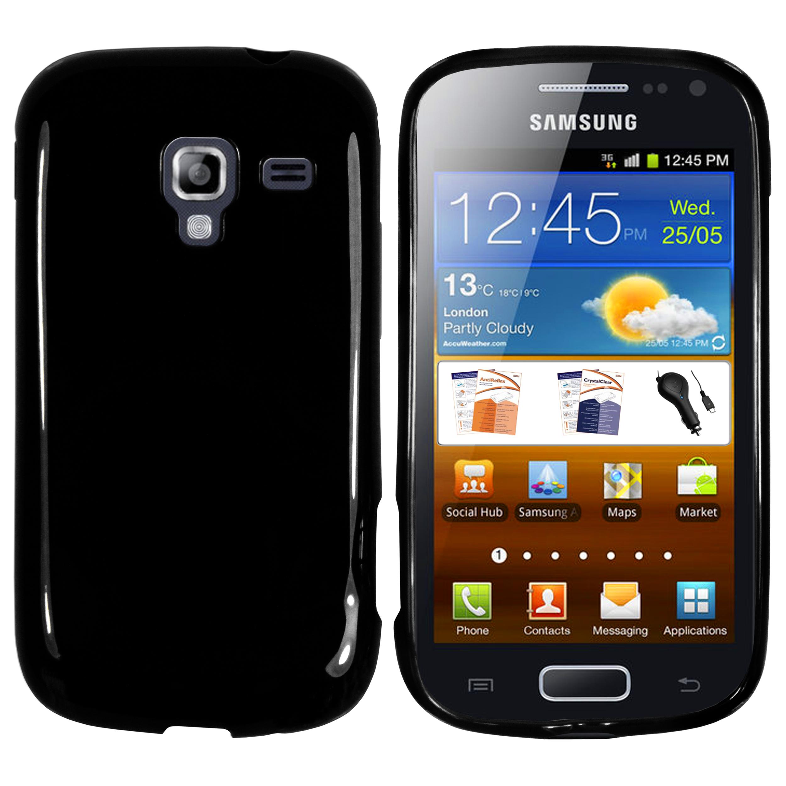 TPU Hülle schwarz für Samsung Galaxy Ace 2 Galaxy Ace Ace 2 Ace 3 Ace 4 Ace Duos Ace Plus Style Samsung weitere Modelle