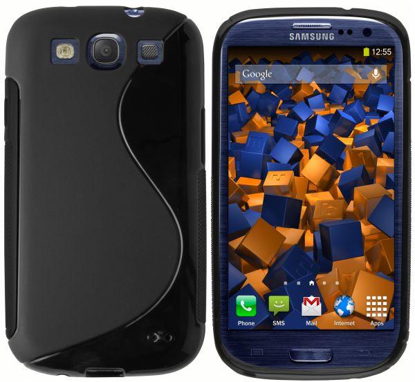 TPU Hülle S-Design schwarz für Samsung Galaxy S3 / S3 Neo