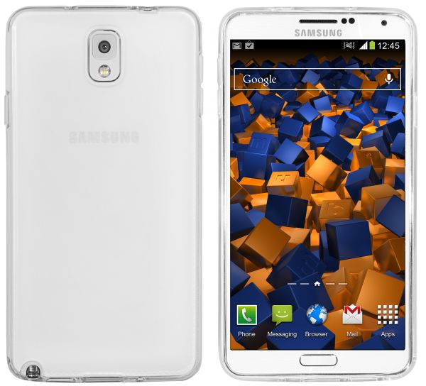 TPU Hülle transparent weiß für Samsung Galaxy Note 3