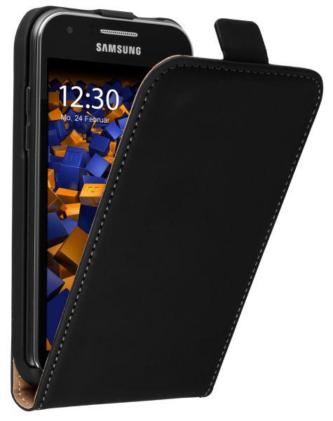 Flip Case Tasche schwarz für Samsung Galaxy J1 (2015)