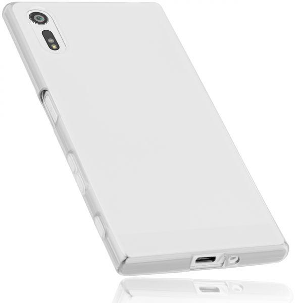 TPU Hülle weiß transparent für Sony Xperia XZ und XZs
