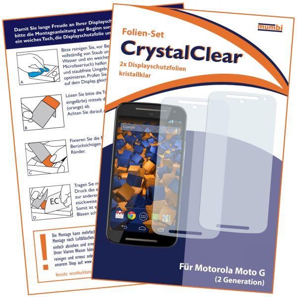 Displayschutzfolie 2 Stck. CrystalClear für Motorola Moto G 2. Generation