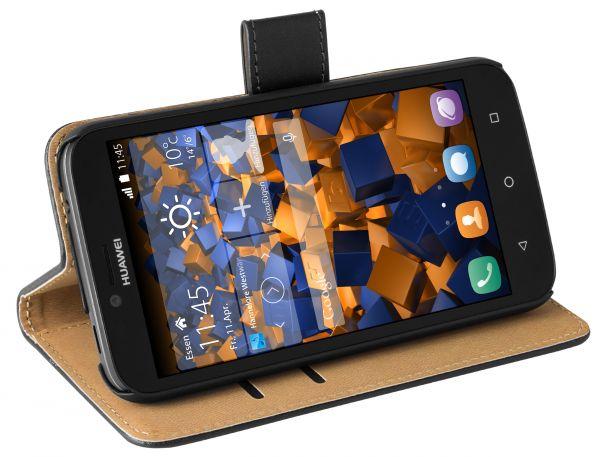 Bookstyle Tasche schwarz für Huawei Y625