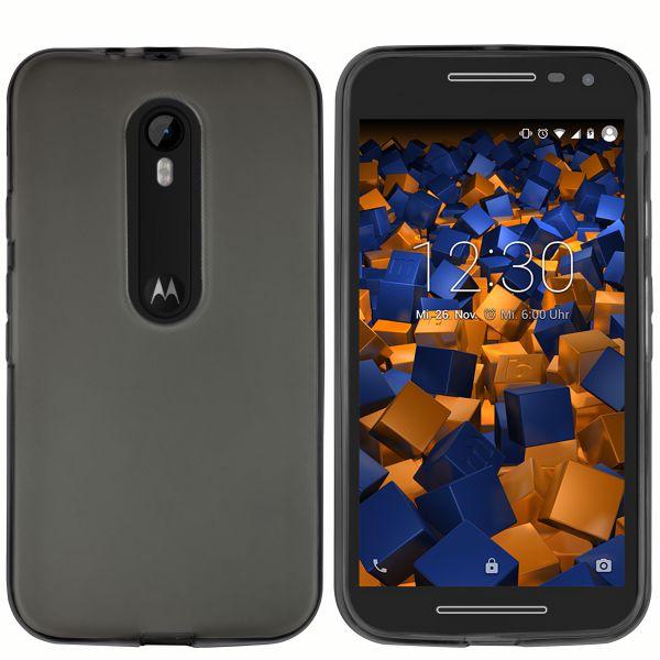 TPU Hülle schwarz transparent für Motorola Moto G 3. Generation