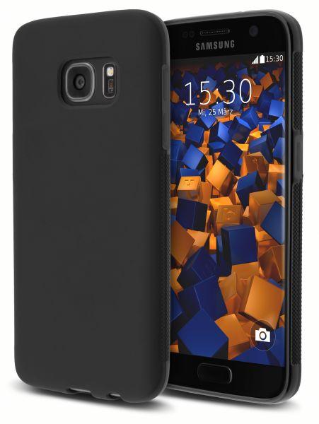 TPU Hülle double GRIP schwarz für Samsung Galaxy S7