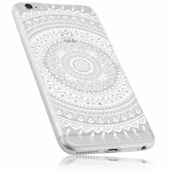 TPU Hülle transparent Motiv Mandala für Apple iPhone 6 Plus / 6s Plus