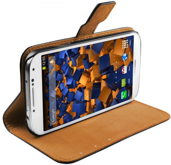 Bookstyle Tasche schwarz für Samsung Galaxy S4