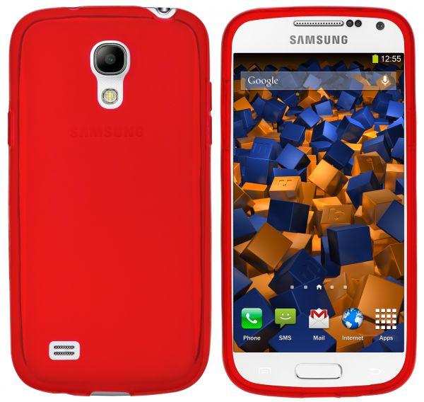 TPU Hülle transparent rot für Samsung Galaxy S4 Mini