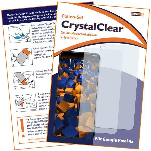 Displayschutzfolie 2 Stck CrystalClear für Google Pixel 4a