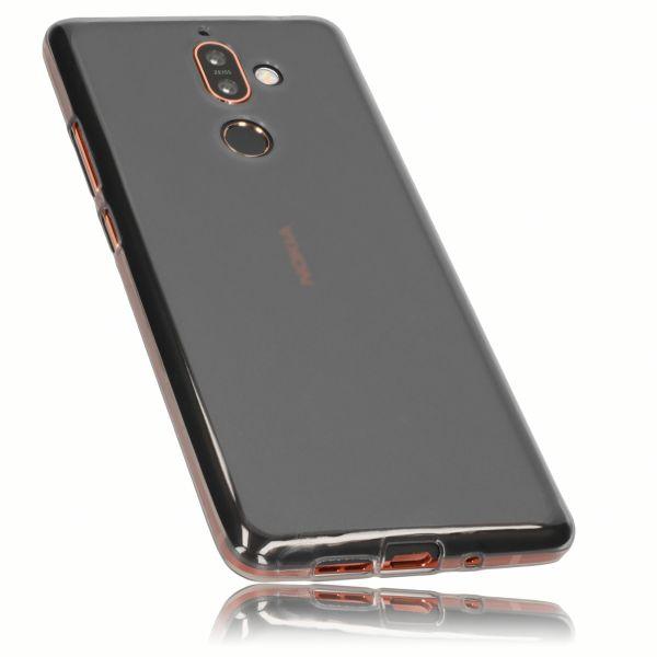 TPU Hülle schwarz transparent für Nokia 7 Plus