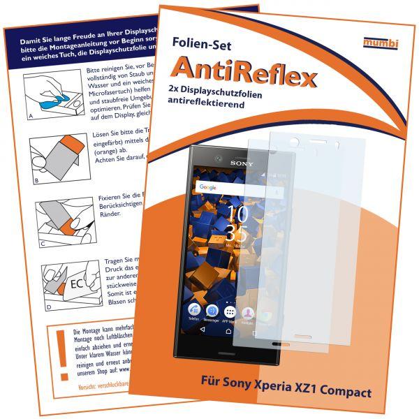 Displayschutzfolie 2 Stck. AntiReflex für Sony Xperia XZ1 Compact