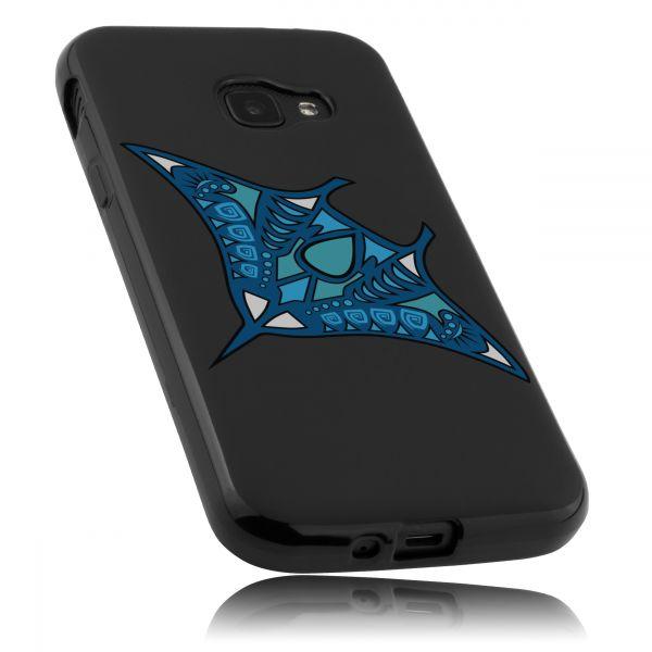 TPU Hülle schwarz Motiv Mantarochen für Samsung Galaxy Xcover 4 / 4s