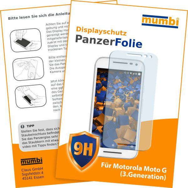 Panzerglasfolie Hartglas 9H für Motorola Moto G 3. Generation