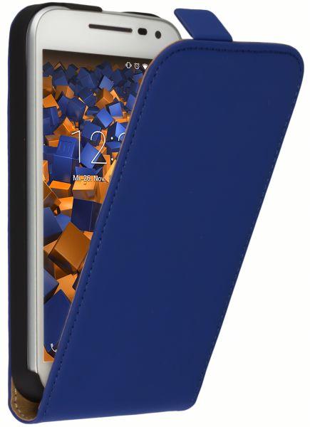 Flip Case Tasche blau für Motorola Moto G 3. Generation