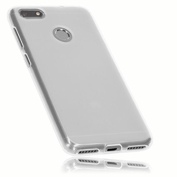 TPU Hülle weiß transparent für Huawei Y6 Pro (2017) / P9 Lite mini