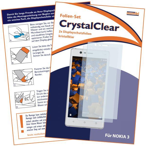 Displayschutzfolie 2 Stck. CrystalClear für Nokia 3