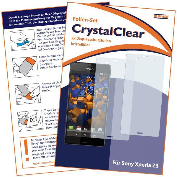 Displayschutzfolie 2 Stck. CrystalClear für Sony Xperia Z3 / Z3 Dual