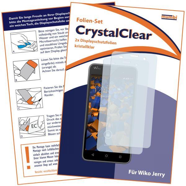 Displayschutzfolie 2 Stck. CrystalClear für Wiko Jerry