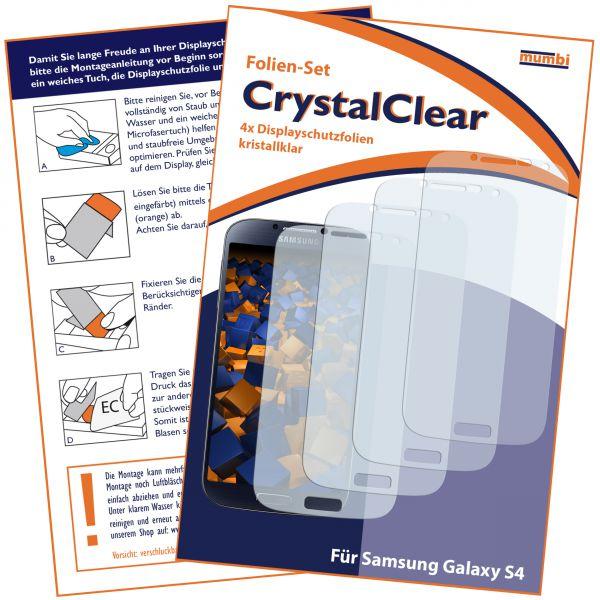 Displayschutzfolie 4 Stck. CrystalClear für Samsung Galaxy S4