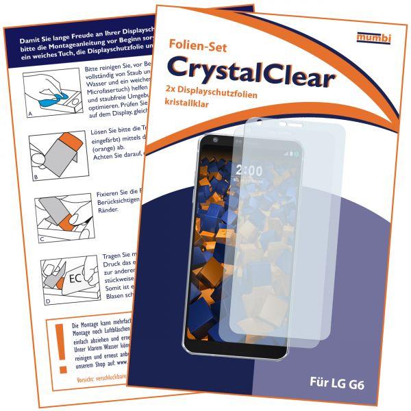 Displayschutzfolie 2 Stck. CrystalClear für LG G6