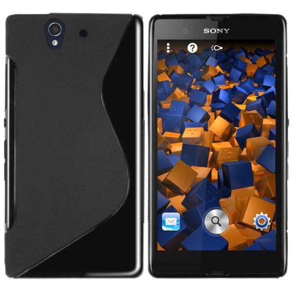 TPU Hülle S-Design schwarz für Sony Xperia Z