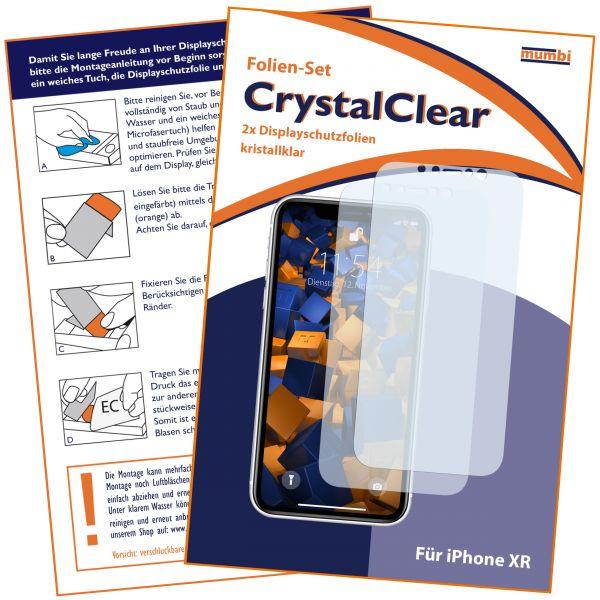 Displayschutzfolie 2 Stck. CrystalClear für Apple iPhone XR
